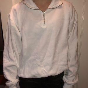 White half zip sweater